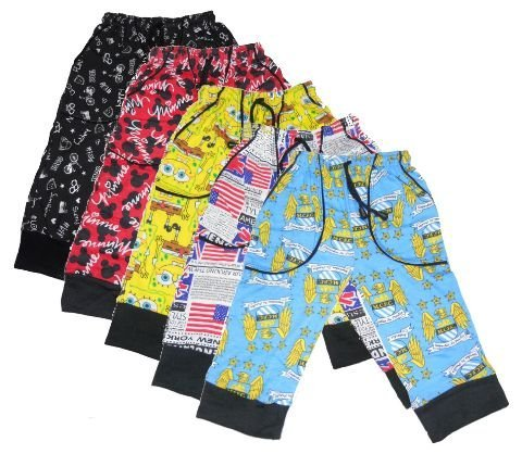 New Day Boys Cotton Three Fourth Pant 55 cm 5 Piece Combo