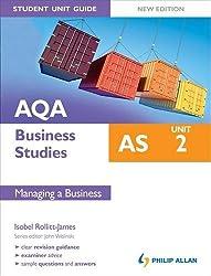 AQA AS Business Studies Student Unit Guide, unit 2: Managing a Business