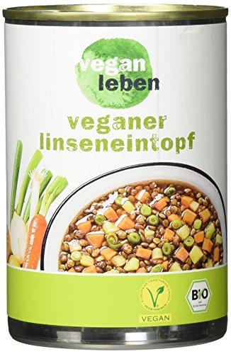 vegan leben Bio Linseneintopf
