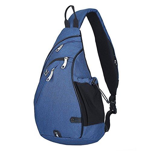 HASAGEI Sling Bag Rugzak Schoudertas crossbody Sling Schoudertas daypack voor wandelen, fietsen, bergbeklimmen, reizen, School, blauw, universele maat