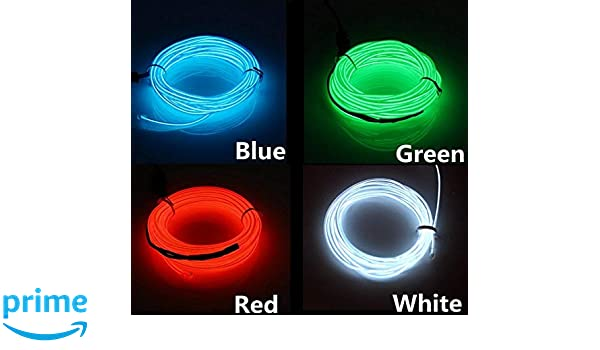 White, 5M SOUTHSKY El Wire 5M of White Neon Lights Waterproof LED Indoor//Outdoor Christmas Decorations