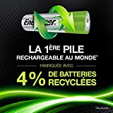 Piles Rechargables AA, Energizer Recharge Extreme, Pack de 4