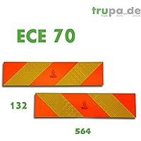 2x Trasero Marcar 565x 132ECE 70.01Advertencia aluminio reflector Camiones szm