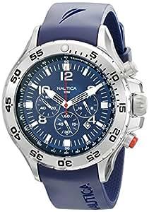 NAUTICA - N14555G - Chronographe - Montre Homme - Bracelet en resin bleu