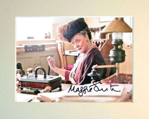 ABBEY SIGNED AUTOGRAPH PHOTO PRINT IN MOUNT by MAGGIE SMITH SIGNED ()