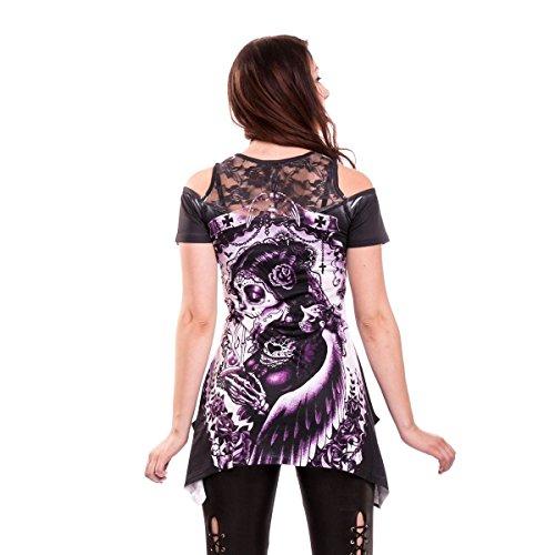 VixxSin Funeral Top Long Shirt Gothic Tattoo Ink Mehrfarbig