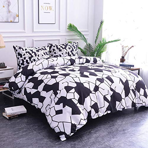 RONGXIE Weiche Marmor Muster Bettwäsche-Sets Bettbezug Set Doppelbetten Geometrische Bett Set Twin Queen King Bettbezug Bettwäsche (Queen Bett Set-muster)