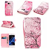 Uming® Retro Print Pattern Colorful Holster Cover Case ( Cherry tree - for IPhone6SPlus IPhone 6SPlus 6Plus IPhone6Plus ) Artificial-leather Flip with Bracket Stander Holder Credit Card Slot Wallet Hasp Magnet Button Shell Protective Mobile Cellphone Cover Bag