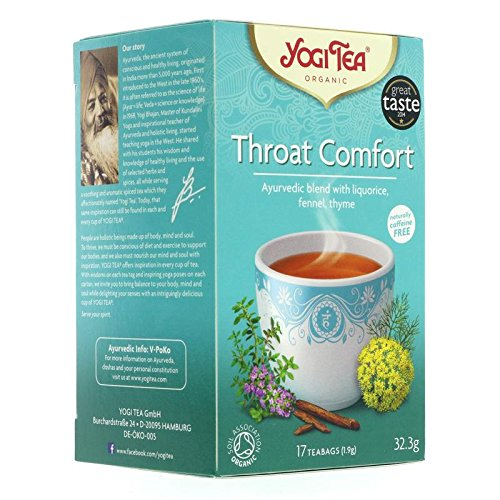Yogi Tea - Throat Comfort - 30.6g (Case of 6)