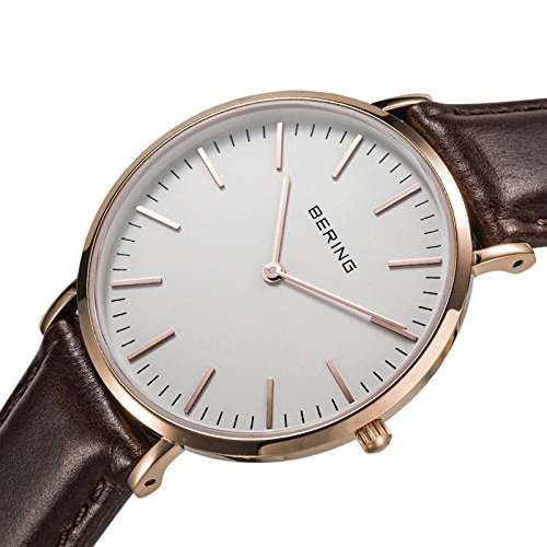 Bering Time Men's Watch XL Analogue Quartz Leather 13738564