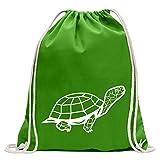 Kiwistar Polygon Schildkröte Figur Tier Art Turnbeutel Fun Rucksack Sport Beutel Gymsack Baumwolle mit Ziehgurt