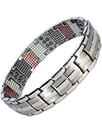 MPS® EUROPE VAMPIRES repellent Multi Elements Silver Tone Magnetic Bracelet + FREE Links Removal Tool