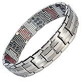 MPS® Titan 4 Elements magnetische Armband für Männer - Mit Einer Kostenlosen Tool, um Links zu entfernen - Mit gratis geschenk beutel