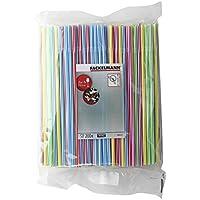 Fackelmann 54546 Paille flexible Plastique Multicolore 0,6 x 24 cm Lot de 200