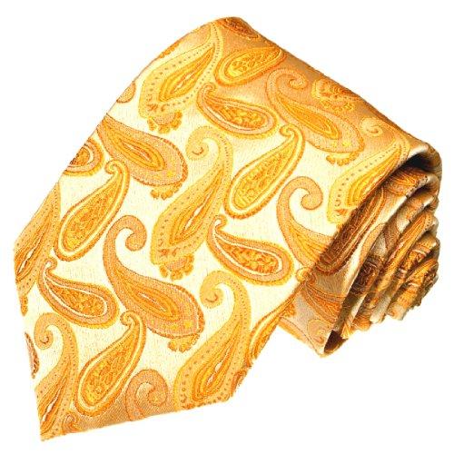 Preisvergleich Produktbild Lorenzo Cana - Marken Krawatte aus 100% Seide - gold gelb creme Paisley - 42009