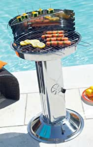 Barbecue à charbon colonne en inox Hespéride CASILDA