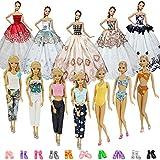 ZITA ELEMENT 20 Stück Puppensachen Mode Fashion Kleider Kleidung 11,5 Zoll Mädchen Puppen...
