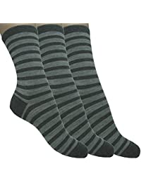 Loonysocks, 3 Pair of Our Best Socks Made of Super Soft Ascona Merino Wool Women/ Ladies, Grey & Light Grey Socks