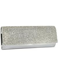 Girly HandBags Diamante Moldeada del Bolso de Embrague del Estuche Rígido de Noche Barnizado de Bodas de Diamante Pequeño