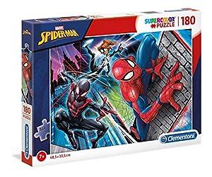 Clementoni Supercolor Puzzle-Spider man-180Unidades, Multicolor, 29293