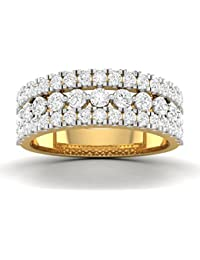 Vijisan 2.34 Ct. Gold Rhodium Plated 925 Sterling Silver Designer Ring For Women