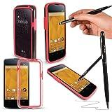 G-Hub Coque pour LGE960 Nexus4 avec stylet ProPen Rouge - rot - rot