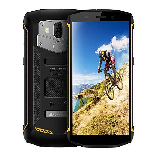 Blackview BV5800 4G Outdoor Handy mit IP68 Wasserdicht und Staubdicht, 5.5 Zoll 18: 9 Bildschirm, Android 8.1 2GB/16GB Quad Core, 5580mAh Schnellladung, Dual R¨¹ckkameras (Gelb)