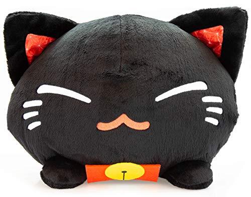 Meralens Funnylens schwarz Nemu Nemo Neko Kuscheltier Katze - Manga Anime Otaku Kawaii Stofftier - Plüschtier Plush Cat Katze Merchandise zum Kuscheln Original aus Japan Höhe 25cm und Breite 34cm