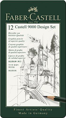 Faber-Castell 9000 - Set de 12 lápices para dibujo técnico