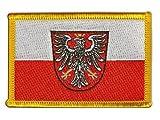 Flaggen Aufnäher Deutschland Stadt Frankfurt Fahne Patch +