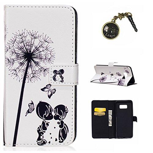 Preisvergleich Produktbild Galaxy S8 Plus Case Leder Tasche Case Hülle im Bookstyle mit Standfunktion Kartenfächer für (Samsung Galaxy S8+ / S8 Plus (6,2 Zoll) Hülle +Staubstecker (12)