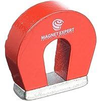 Imán expertos F4M802–10tamaño de bolsillo imán de herradura, rojo (Pack de 10)