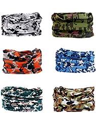 Multifunktionstuch Rohr Kopfbedeckungen Bandana Schal Elastische Halstücher für Yoga, Wandern, Reiten, Motorradfahren