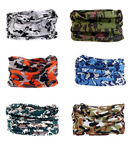 Bandana multiuso tubolare: scaldacollo, bandana, copricapo per yoga, escursionismo, equitazione, motociclismo, volltonfarbe