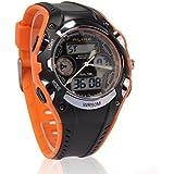 PIXNOR Alike AK9132 Waterproof Students Children''s Wrist Watch (Orange+Black)