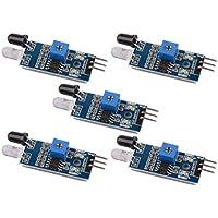 Gaoxing Tech. Módulo infrarrojo del sensor de la prevención del obstáculo del IR 5PCS para el alambre elegante de la robusteza 3 del coche de Arduino
