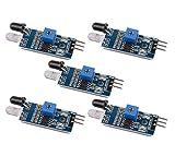 Gaoxing Tech. 5PCS IR Infrarot Hindernis Vermeidungs Sensor Modul für Arduino intelligenter Auto Roboter 3 Draht