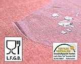 Transparente TISCHDECKE FOLIE, LFGB geprüft, Lebensmittelecht, 0,3 mm Stärke, Meterware, 100x140 cm, Länge wählbar, Beautex - 2