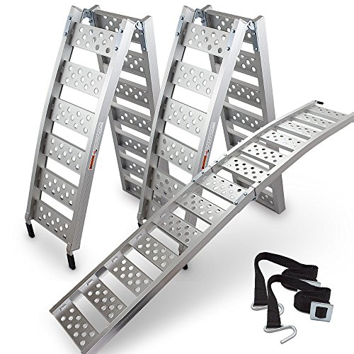 ms-point 2x ALU-Auffahrrampe klappbar, Verladerampe Verladeschiene Quadrampe 320kg