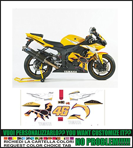 Kit adesivi decal stikers YAMAHA R6 R2005 VALENTINO ROSSI (ability to customize the colors)