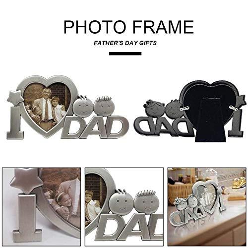 Lucee cornice portafoto in metallo per festa del papà, regalo di compleanno