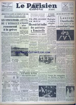PARISIEN LIBERE EDITION DE 5 HEURES (LE) [No 688] du 29/10/1946