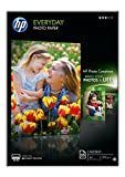 HP 1144922 Everyday Glossy Photo Paper, A4, 210 x 297 mm, 200 g/m2, 25 Sheets, White