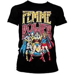 Officially Licensed Merchandise Femme Power Girly Tee (Black), XX-Large