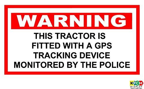Traktor ACHTUNG GPS-Tracking überwacht durch Polizei Aufkleber Traktor 150mm x 100mm