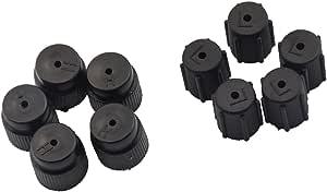 Magideal A C Auto Klimaanlage Adapter Schnellkupplung Kappen Satz 5pcs Hochdruck 16mm 5pcs Niederdruck 13mm Auto