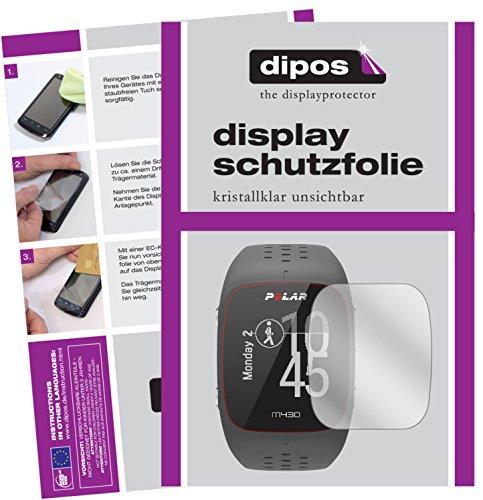 dipos I 6X Schutzfolie klar passend für Polar M430 Folie Bildschirmschutzfolie
