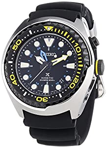 Seiko Kinetic Diver - Reloj automático , correa de plástico color negro de Relojitos Euromediterránea