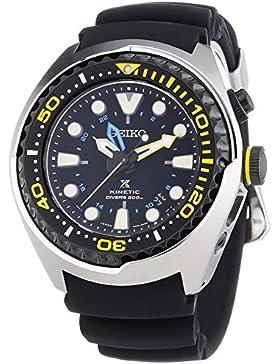 Seiko Herren-Armbanduhr XL Kinetic Diver Chronograph Quarz Plastik SUN021P1