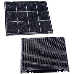 Spares2go filtre à charbon pour hotte aspirante Hotpoint-Ariston ventilateur d'aération (240x 270mm, lot de 2)